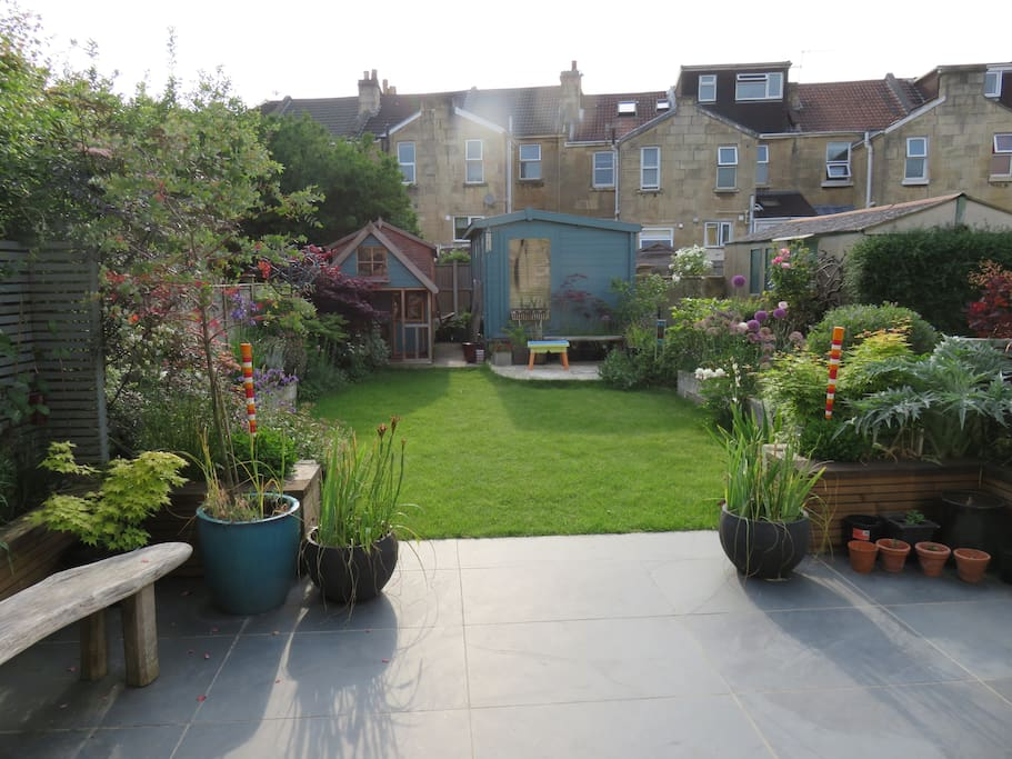 Back garden from the house