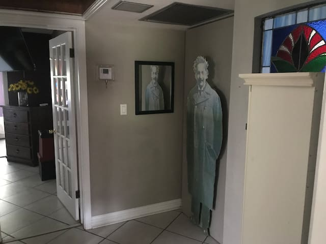 Looking through Einsteins Foyer to Lake Front 2 room Suite