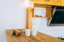 【己度-栖息】一室日系简约江景房/临近地铁口,可做饭/步行可到达世贸广场美食街等商圈