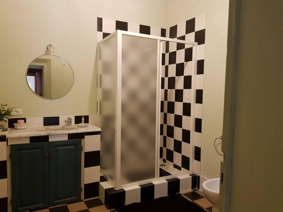 bagno privato con doccia e Bidet