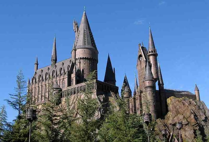 Hogwarts Castle as depicted in the Wizarding World of Harry Potter, located in Universal Orlando Resort's Island of Adventure