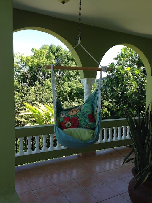 Our front porch chair swings are the perfect place to enjoy the view, a sunset, or just a comfy place to sit and read.