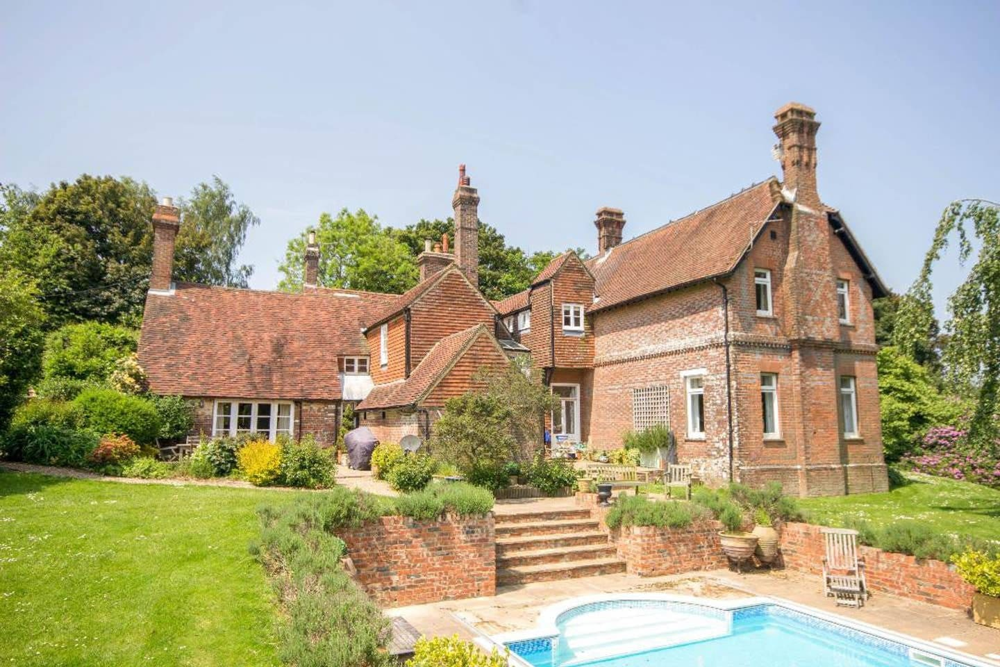 Rear view of house in summer (please note the pool is closed from 1 October - 1 May)