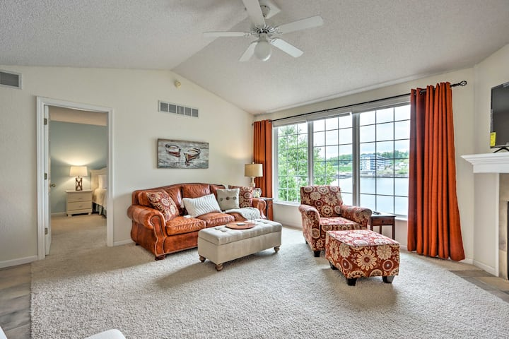 NEW! Waterfront Townhome with Dock and Lake Views!