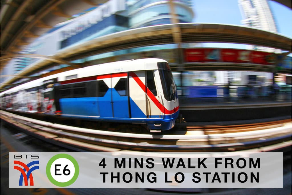 4 mins walk from Thong Lo station/ 从 Thong Lo 站 散步 4 分钟。