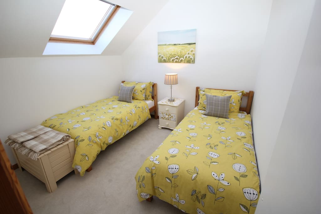 Twin Bedroom in a day light