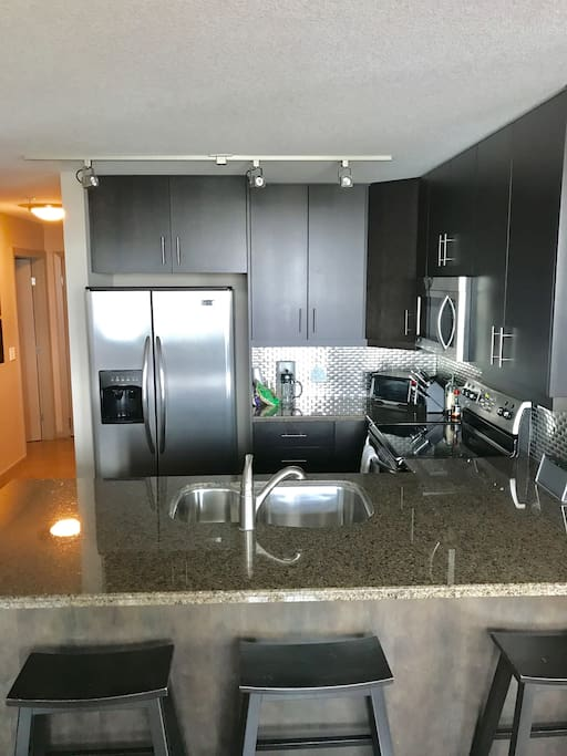 High end kitchen with upgraded appliances