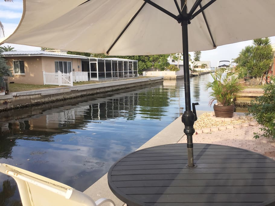 looking down canal from back breakfast area
