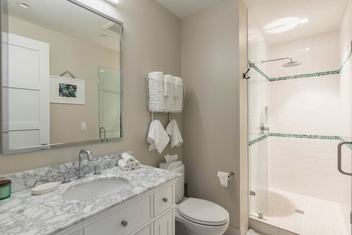 The 2nd bathroom has a walk-in shower.