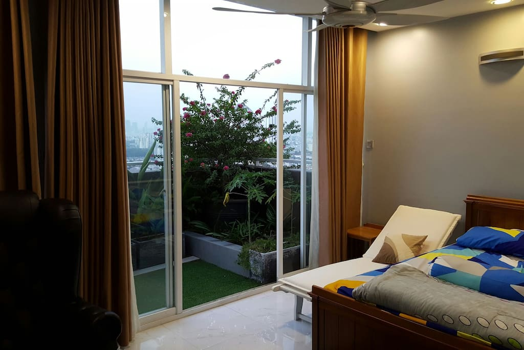 bed room 1 with amazing view
