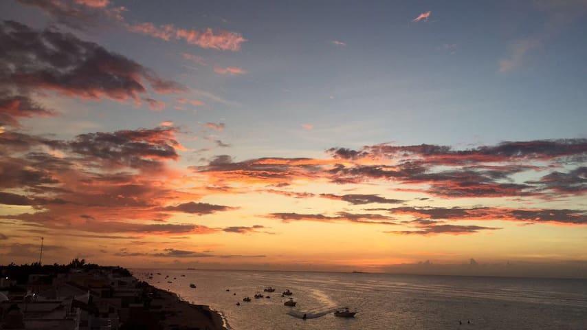 Beautiful condo, front beach!! Yucatán, Mexico - Chicxulub Puerto - Lägenhet