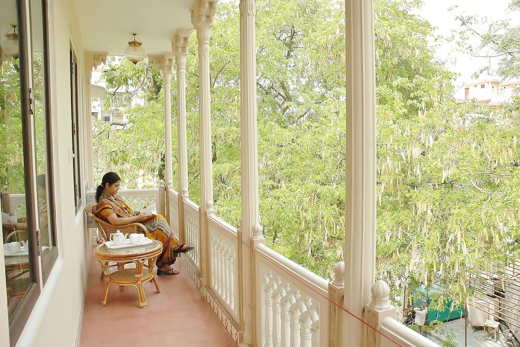 Balcony of superior luxury Suite