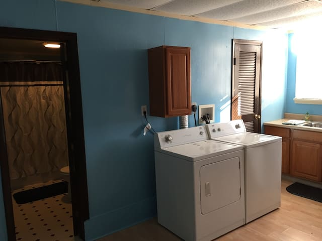 Full size washer & dryer with essentials