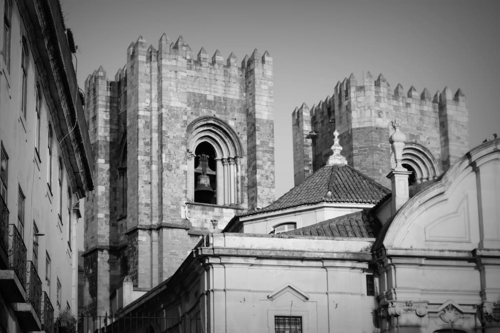 The Sé Cathedral, just around the corner.