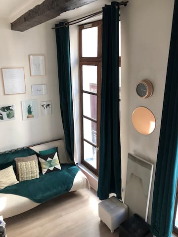 Studio avec mezzanine dans le marais, Paris centre