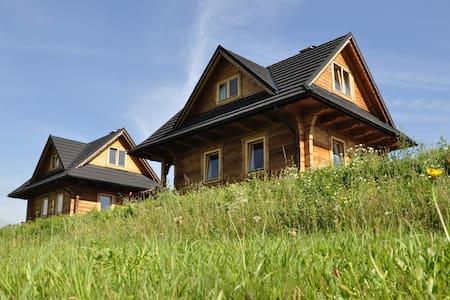 Widokówka, Pieniny, dwa domki z widokiem na Tatry - Kluszkowce - Rumah Tamu