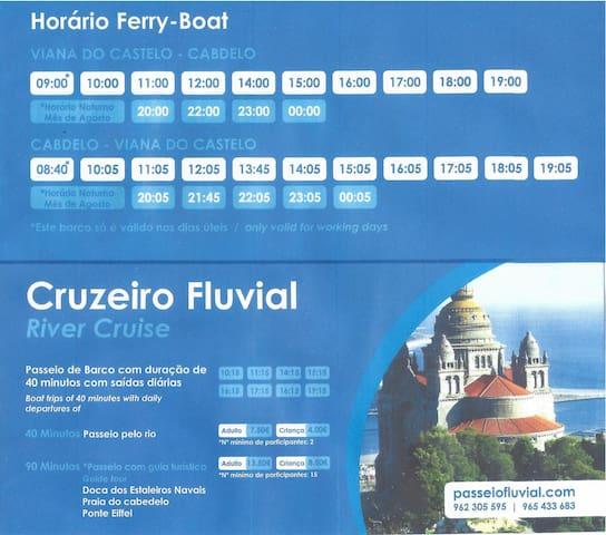 Schedules/Horário ferry boat