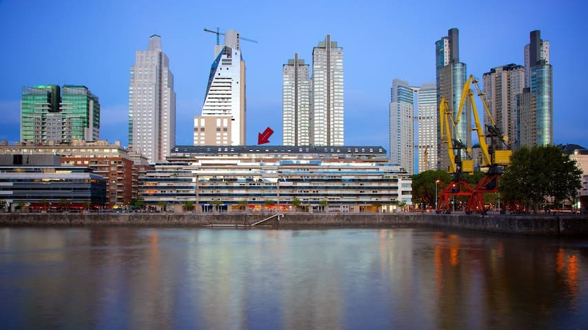 Puerto Madero room in duplex with great views.