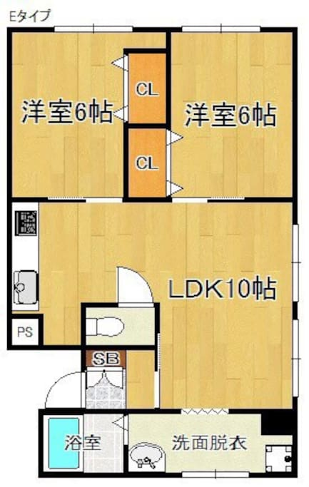 Floor plan 2bed room and 1Living dining
