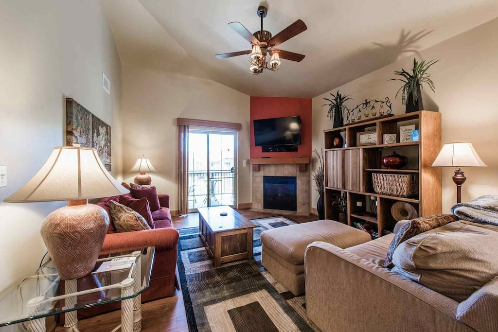 This spacious and open property features a stunning gourmet kitchen, two master bedroom suites and large family room with entertainment center.