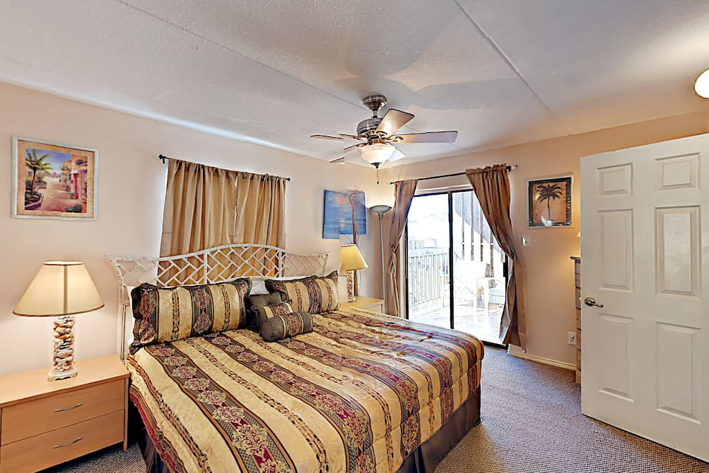 Well-appointed master bedroom.