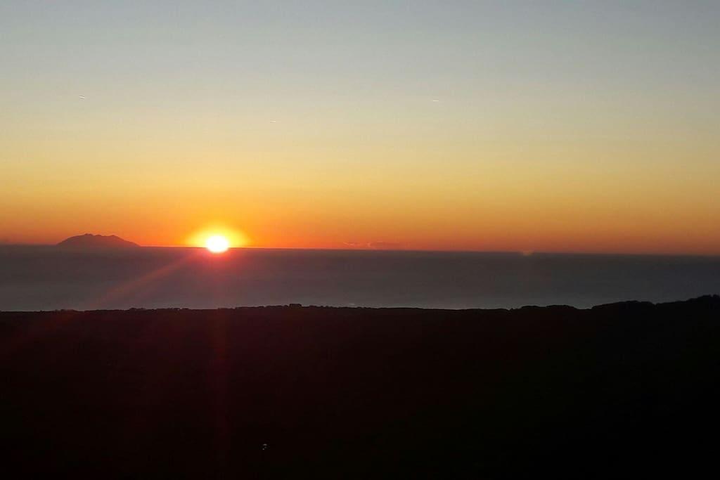 lever de soleil vue terrasse