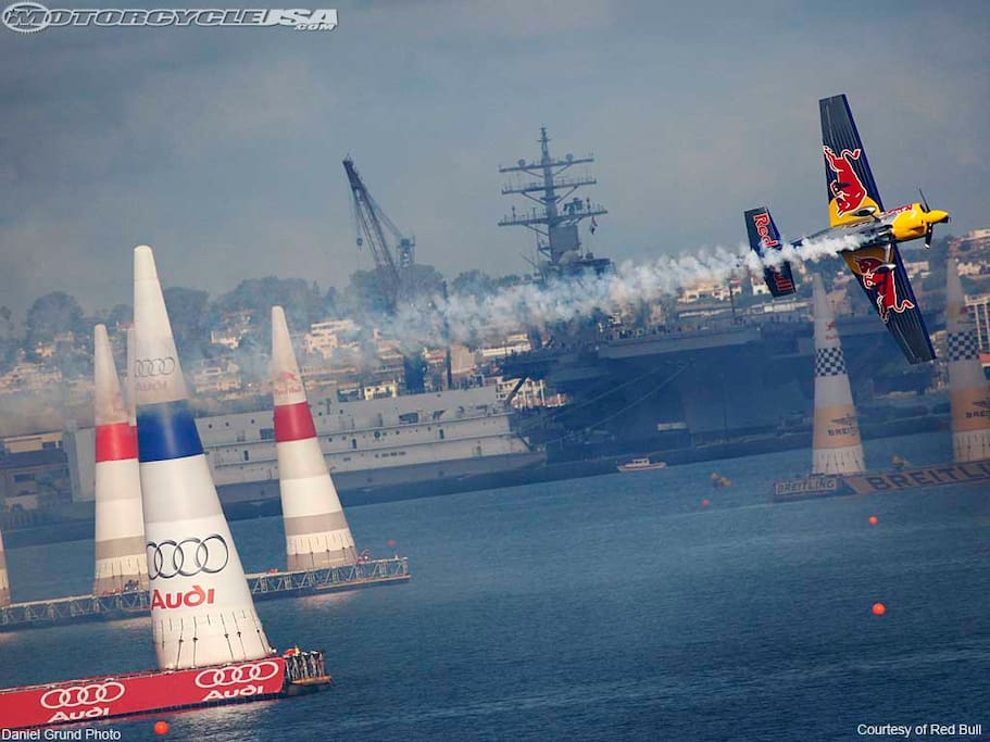 Front row view the Red Bull Air Races from your own private yacht