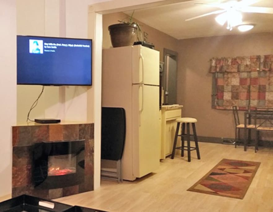 Living-room Fireplace Kitchen