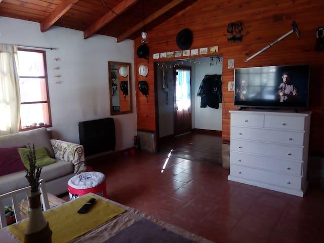 Habitaciones en cálida cabaña en la Patagonia
