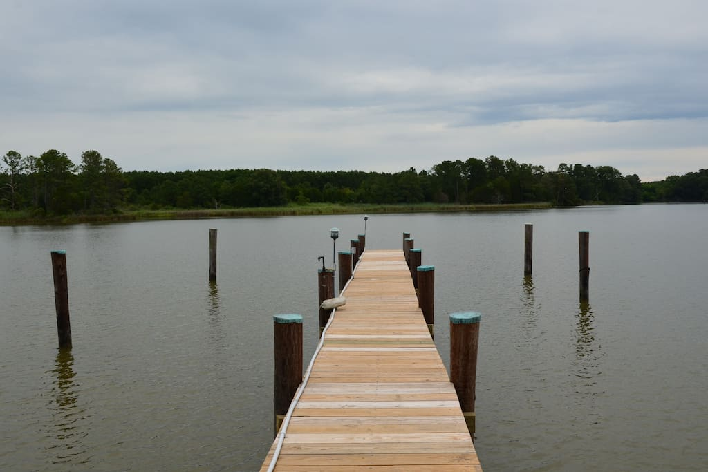 View  from dock to miles of untouched shorline