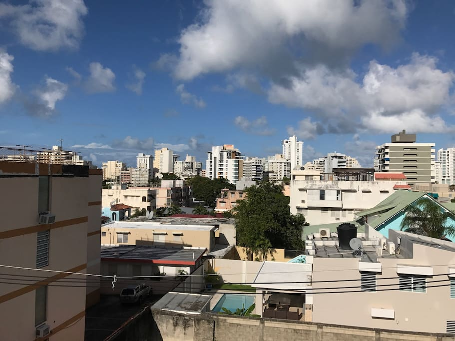The Condado view from the balcony.