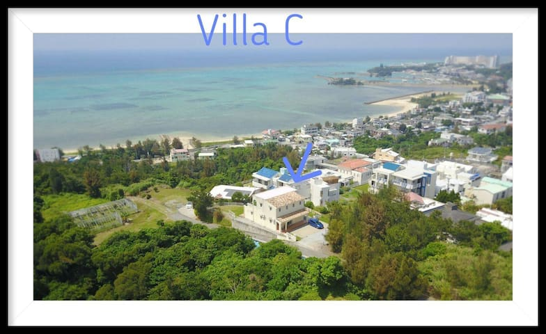 380㎡ Seaview on the Top of Onna Quiet 4BR 3bath C