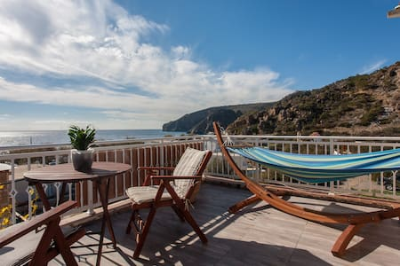 Marinakis Sougia,Panoramic Sea View Terrace Studio - Sougia - Rumah