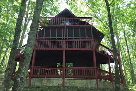 Bear Path Cabin is the perfect mountain cabin that can sleep 8 with Wifi, Roku Air Hockey & Ping Pong Tables