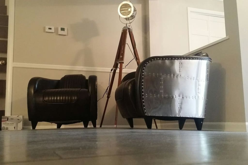 Aviator chairs by the living