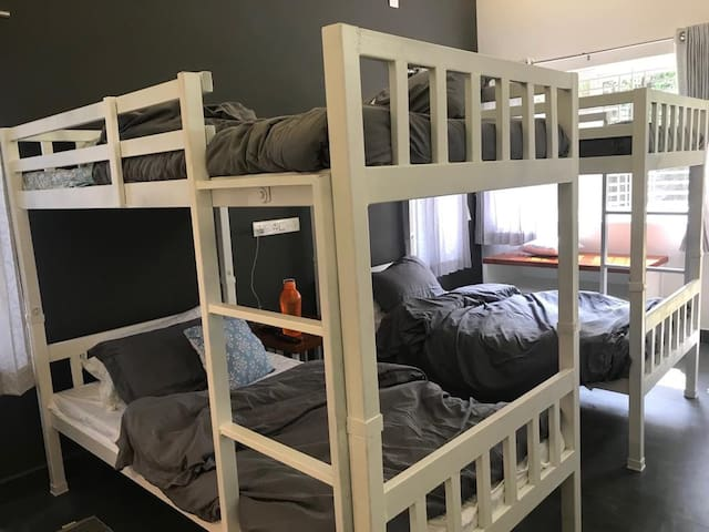 Bunk beds accommodates kids and adults (guest picture)
