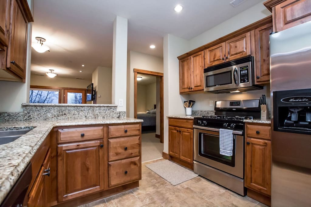 Perfect size kitchen for all your cooking needs