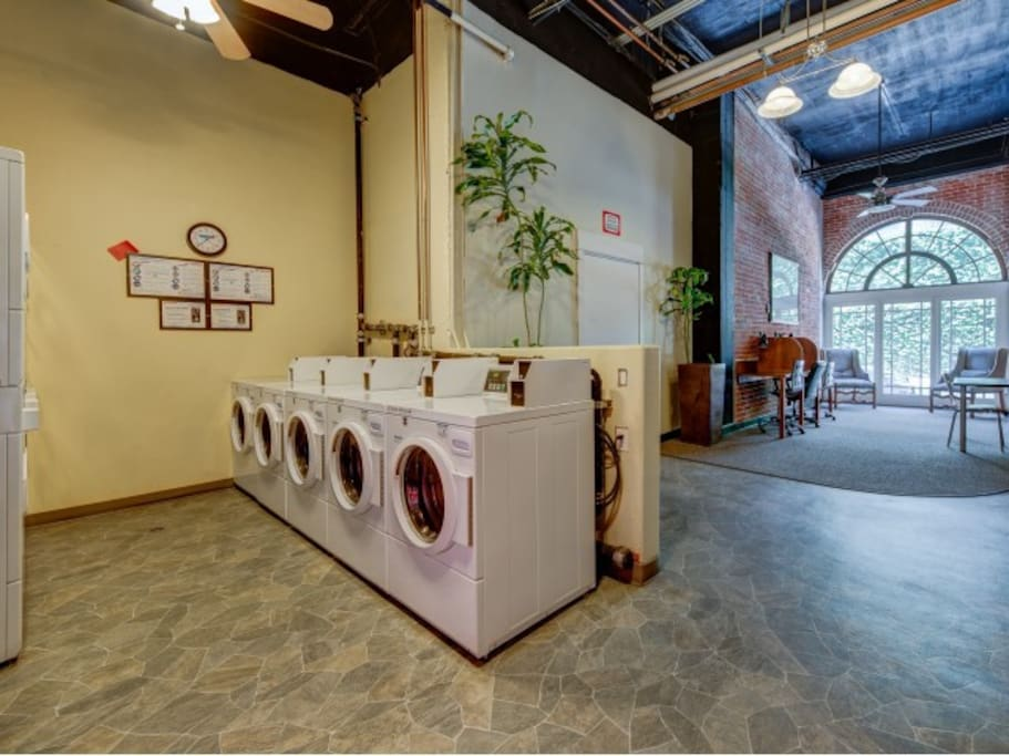 Laundry onsite, and free wireless internet in the Basement.
