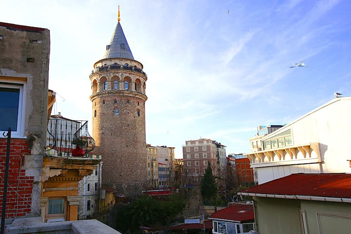 The most beautiful view of the Galata tower.