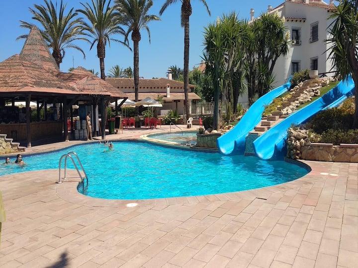 Single-family villa near slides pool. Free WIFI.