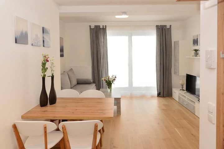 """Modern Holiday Apartment """"Serles"""" with Wi-Fi, Garden and Terrace; Parking Available"""