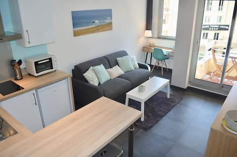 Renovated studio Apartement/ Grande Plage Biarritz