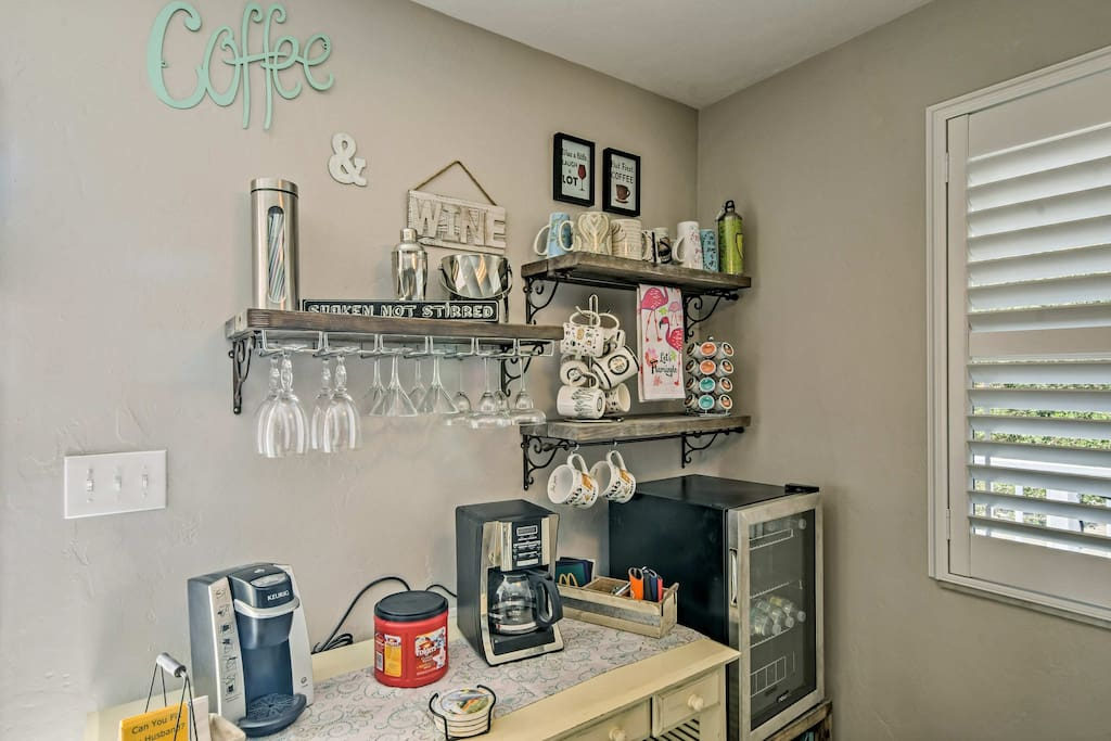 'Life at Lovers Lane' features a convenient, well-equipped beverage bar.