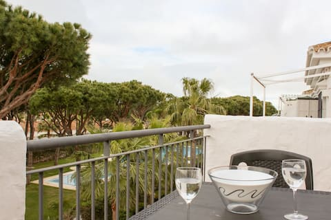 Apartment with garden view close to La Barrosa
