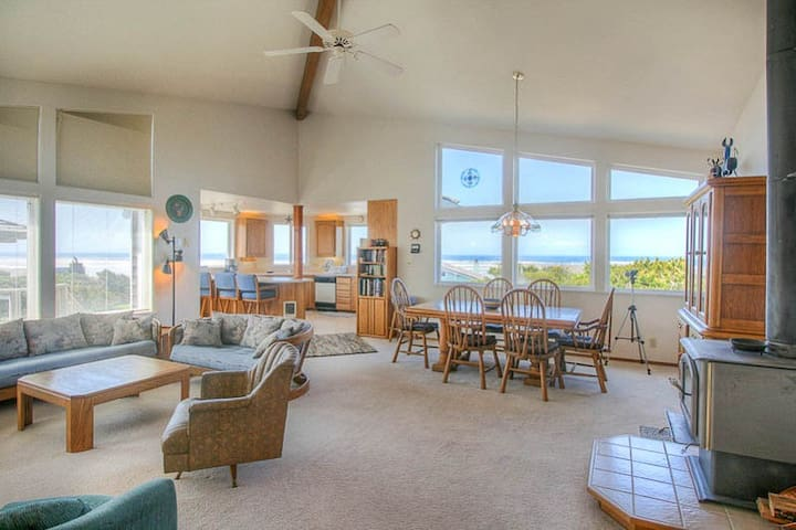 Stunning Views of ocean are yours in this home across the street from the Beach!