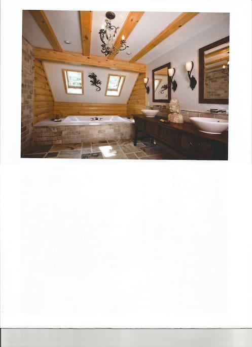 Luxury marble master bathroom