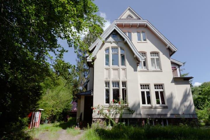 Rotes Zimmer in Jugendstilvilla-EURO FH-ILS
