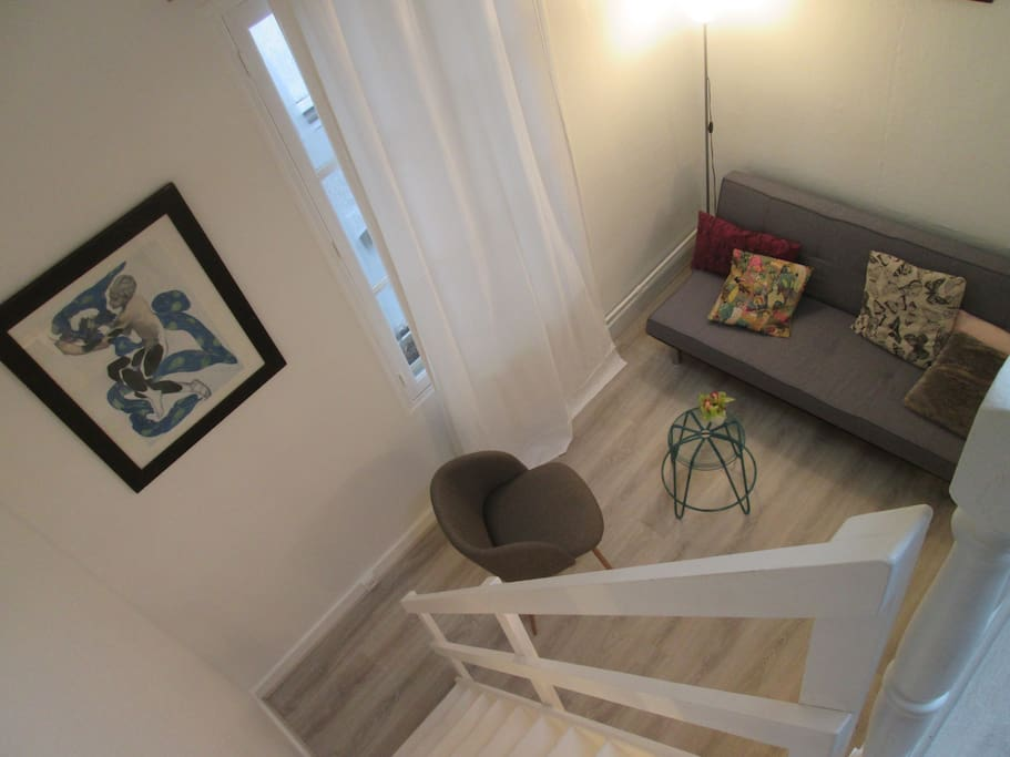 View from the bedroom/ Vue de la mezzanine!