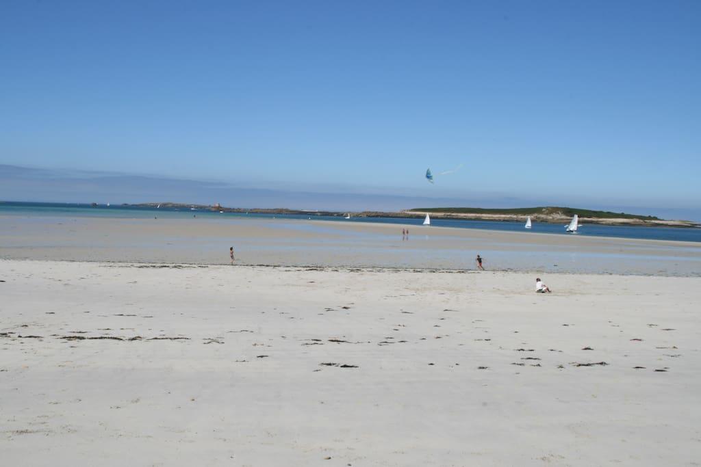 Banc de sable sur la grande plage