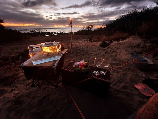 Glamorous Tent Camping right on the Beach.